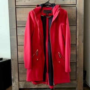 Red hooded raincoat by Tommy Hilfiger